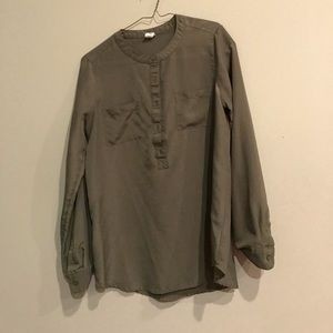 Old Navy Tops - Old Navy Olive Sheer Blouse